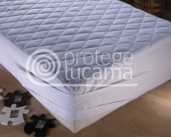Protector Acolchado Rizo Extra Impermeable y Transpirable